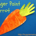 Food Craft: Finger Paint Carrot