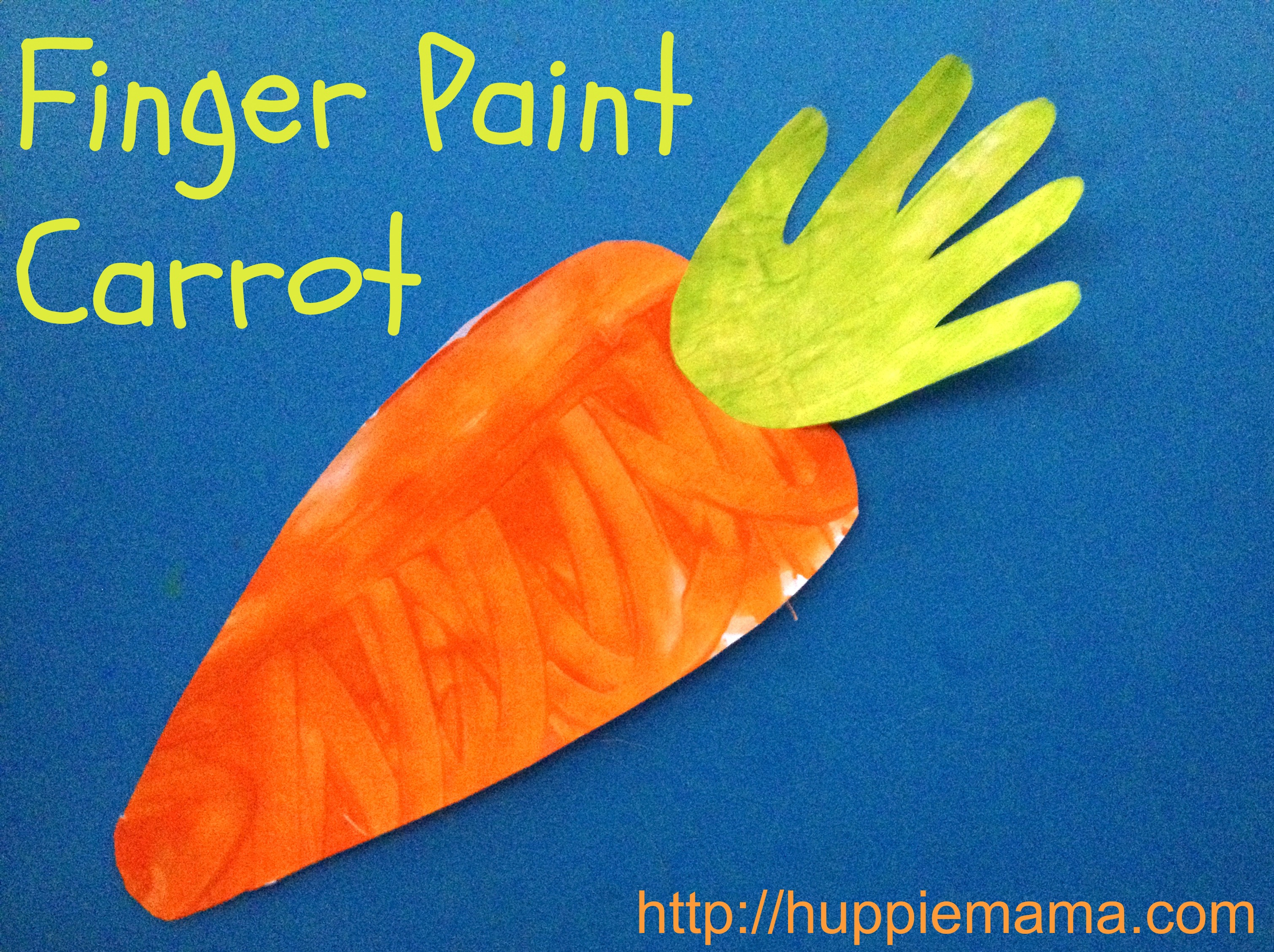 Food Craft Finger Paint Carrot  sc 1 st  Our Potluck Family & Food Craft: Finger Paint Carrot - Our Potluck Family