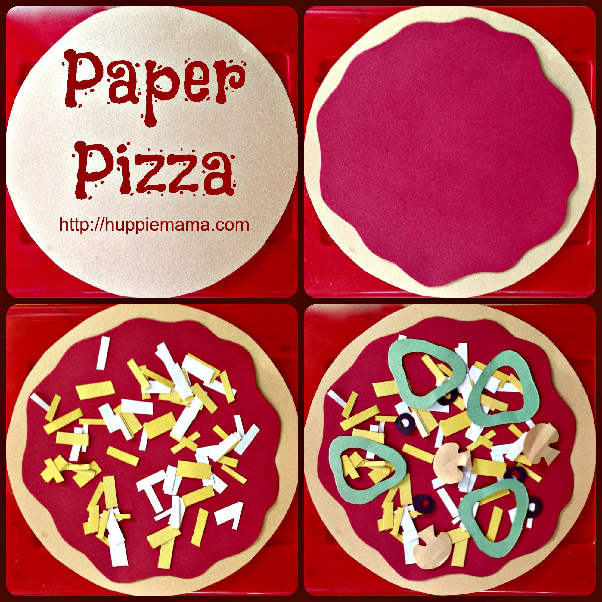 Paper pizza our potluck family for Fun kid food crafts