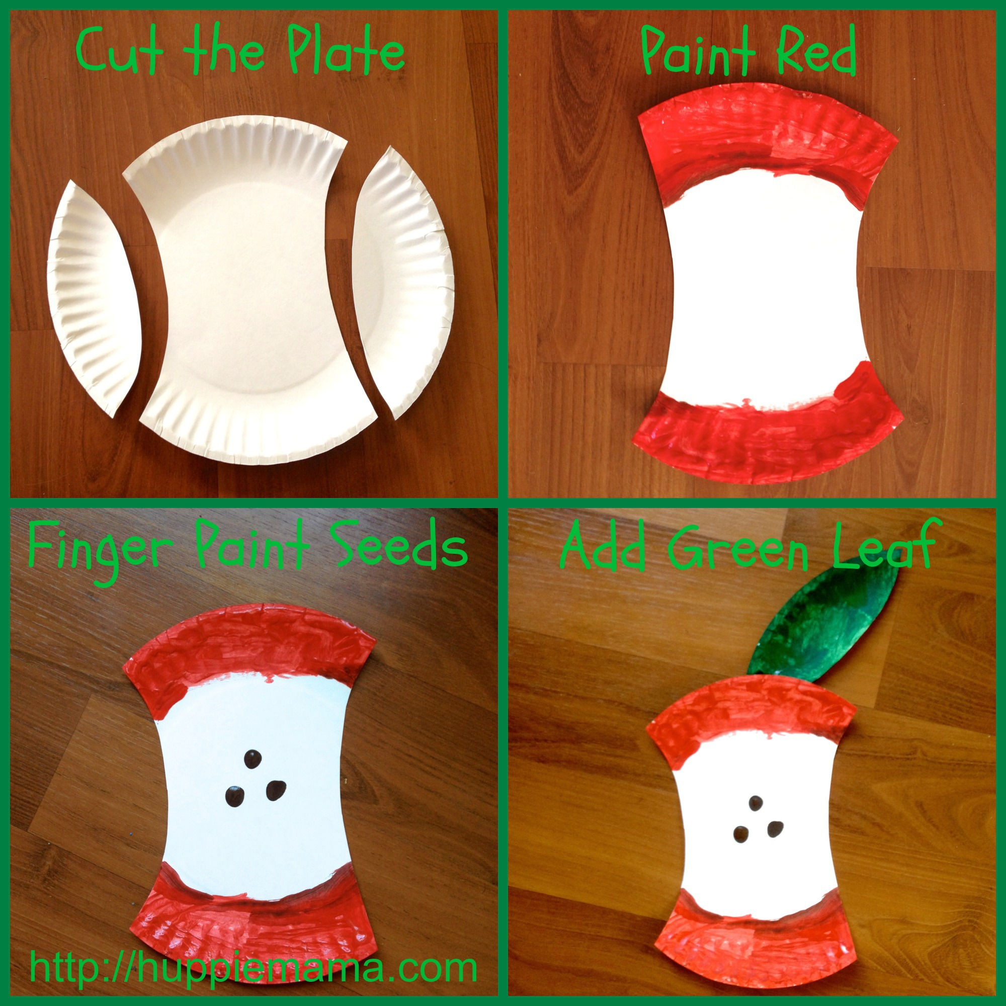 Paper plate apple craft our potluck family for Paper plate crafts for adults