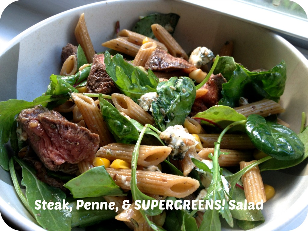 Steak-Penne-Supergreens-Salad