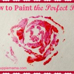 Valentine's Day Craft: Paint the Perfect Rose