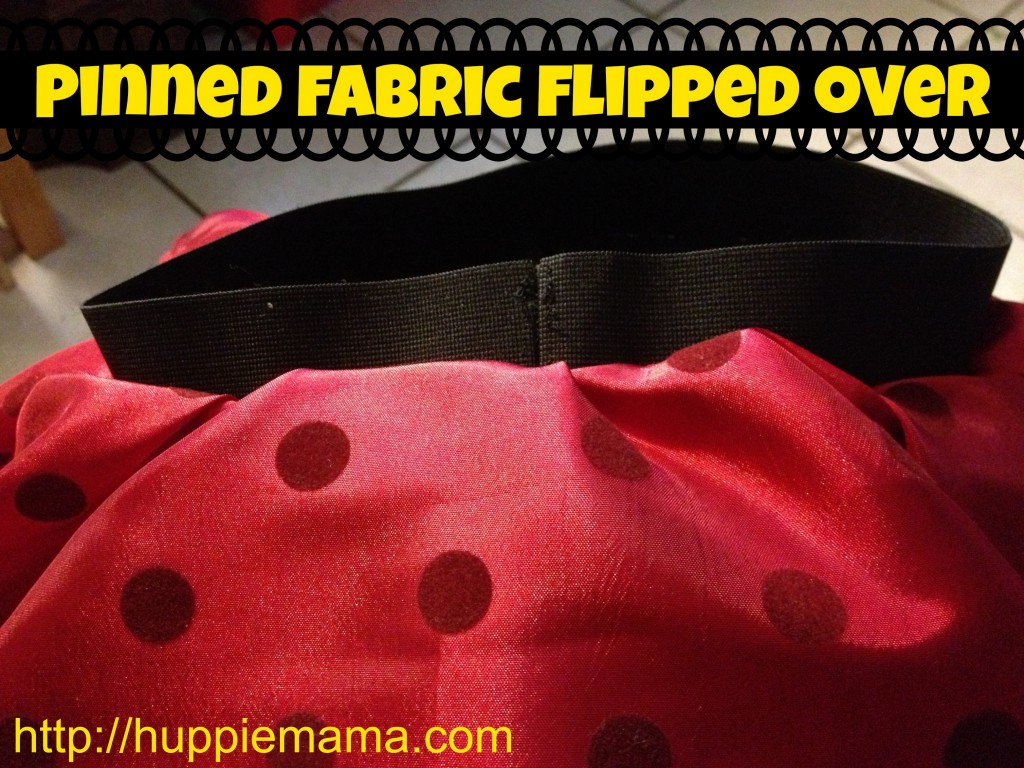 fabric flipped over #disneyside
