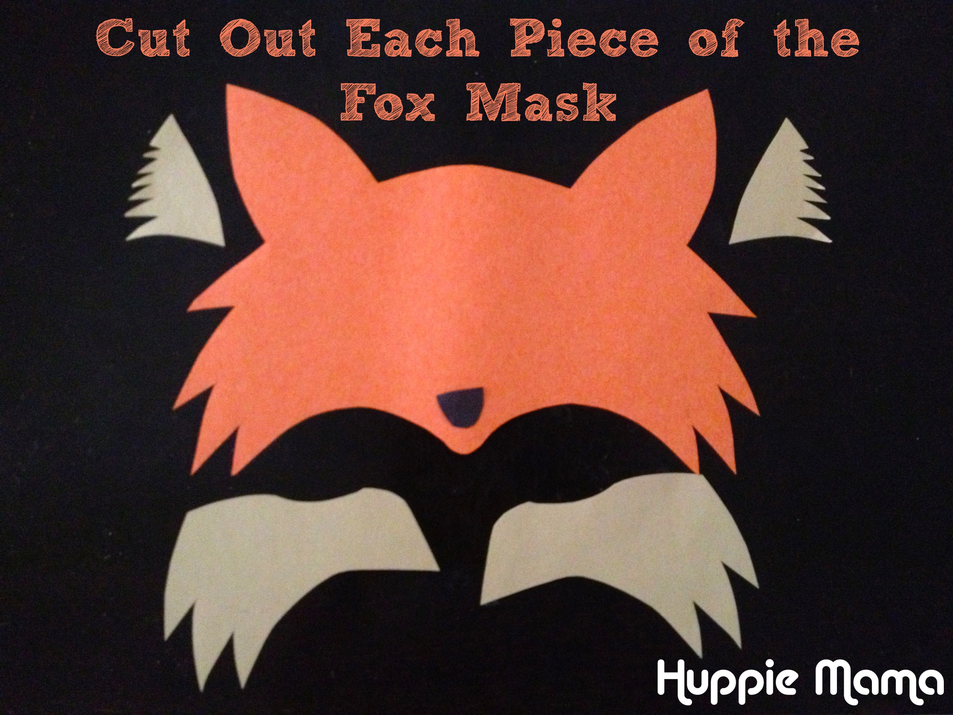 Cut out fox mask our potluck family for Fantastic mr fox mask template