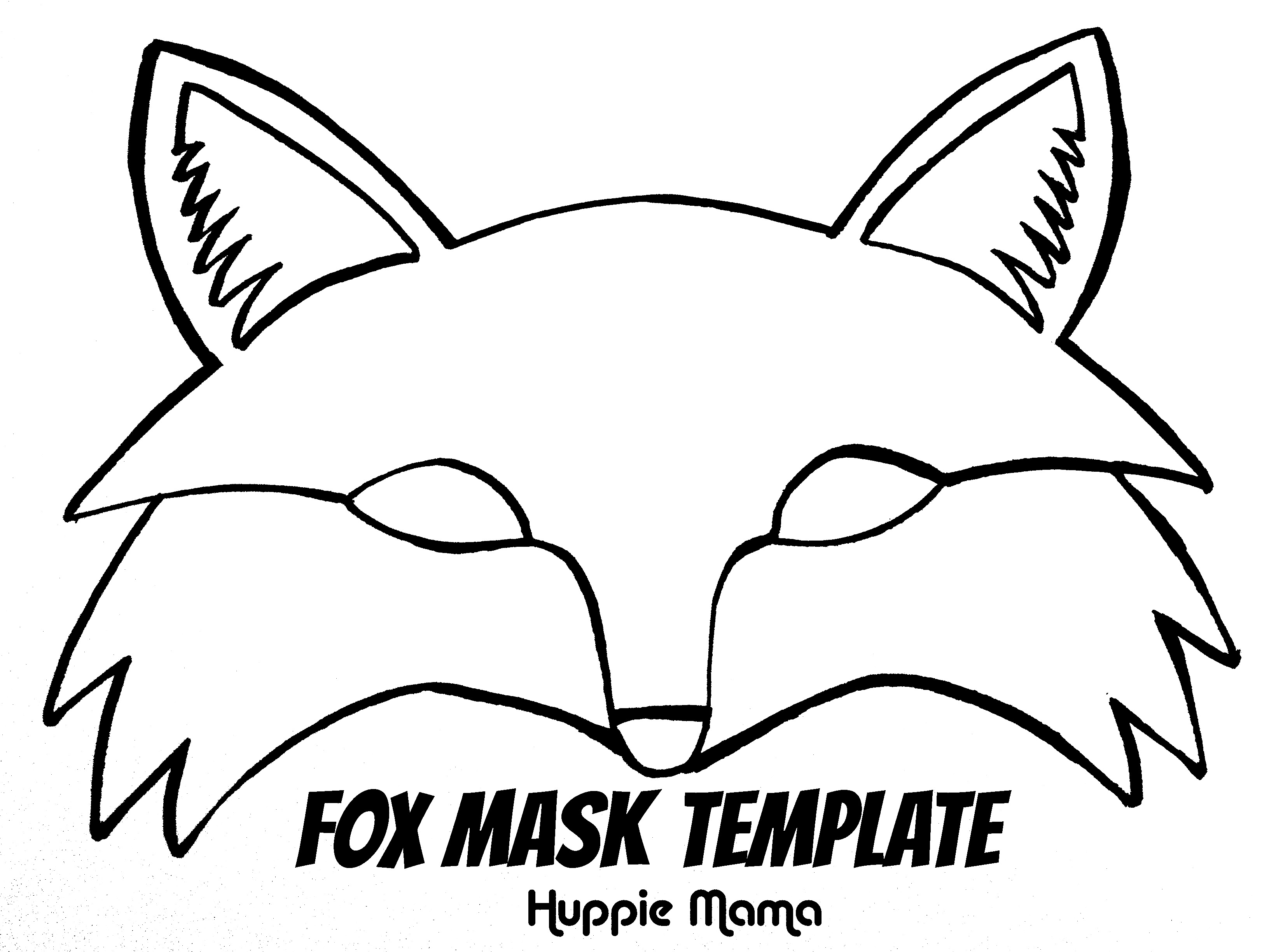 Lively image with regard to fox mask printable