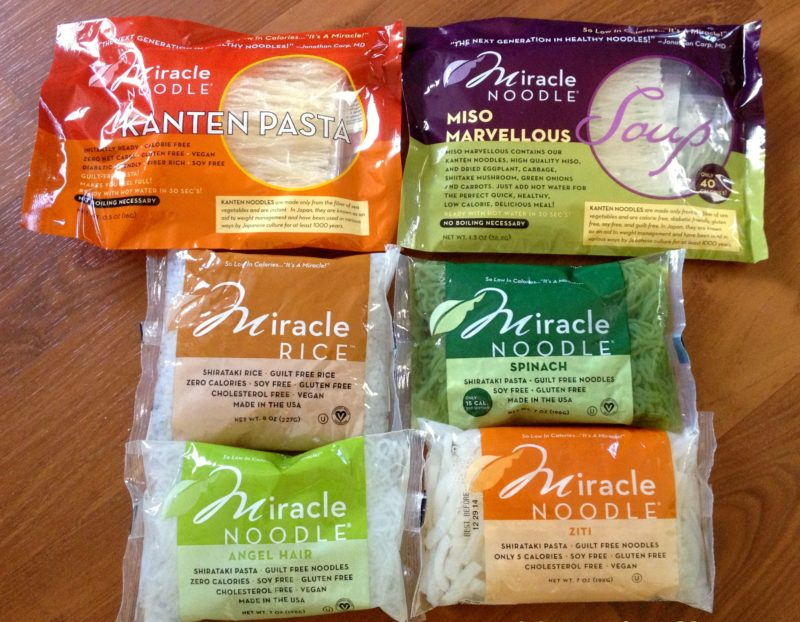 Miracle Noodle packages