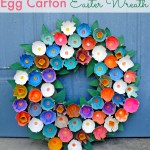 Egg Carton Wreath Easter Craft