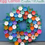 Egg Carton Wreath Easter Craft