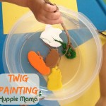 Earth Day Craft: Twig Painting