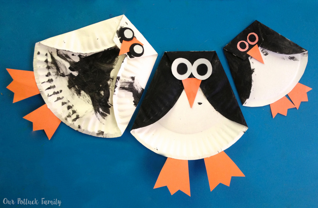 To kick off this theme we made Paper Plate Penguins. I really enjoy coming up with new paper plate crafts u2014 How cute (and simple) are these? & Paper Plate Penguin - Our Potluck Family