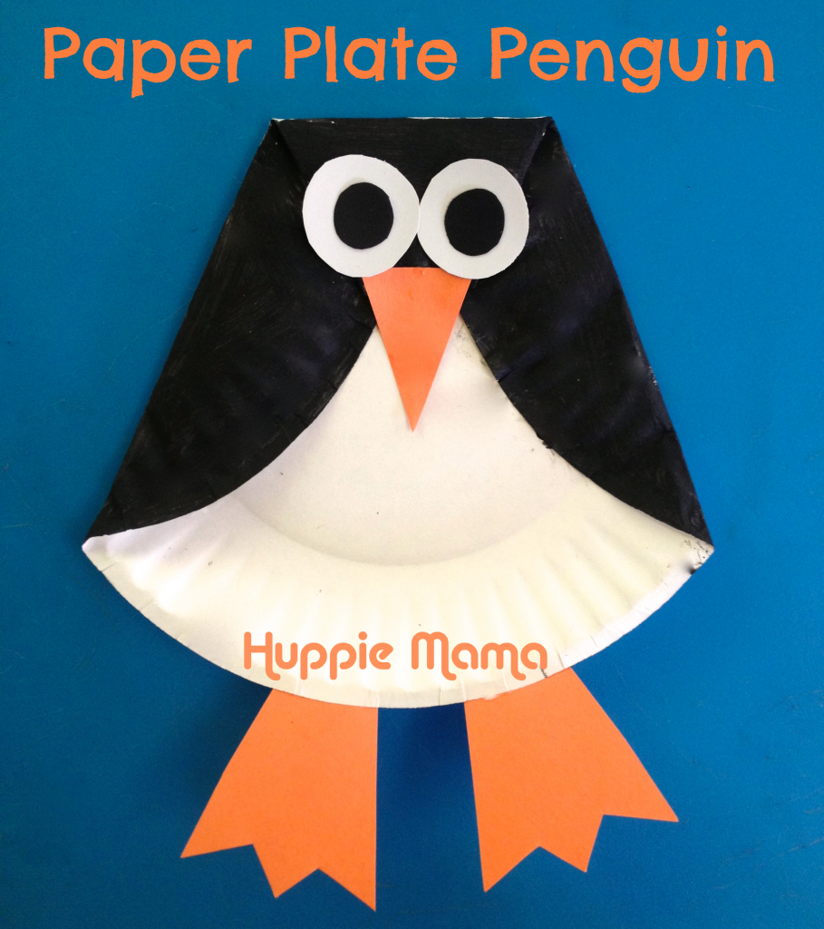 Paper Plate Penguins