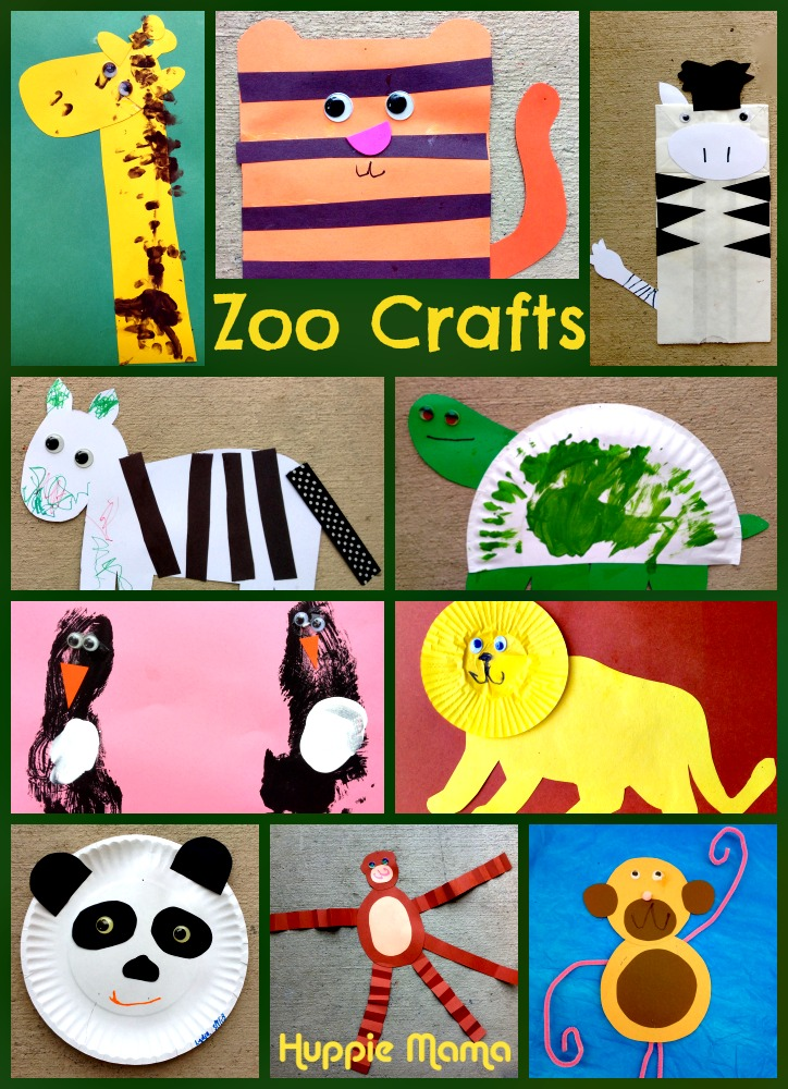 10 Zoo Animal Preschool Crafts Our Potluck Family