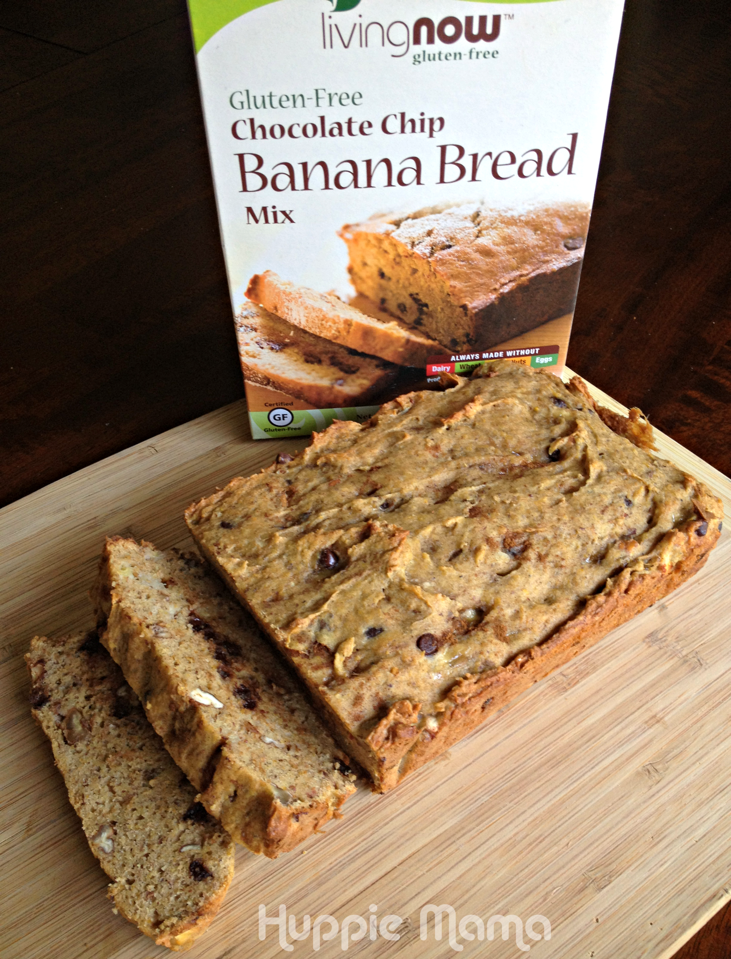 Gluten-Free Chocolate Chip Banana Nut Bread - Carrie Rose