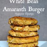 Italian White Bean Amaranth Burger