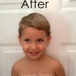 His 1st Big Boy Haircut