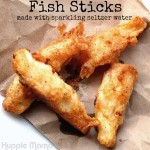 Homemade Fish Sticks with Sparkling Water