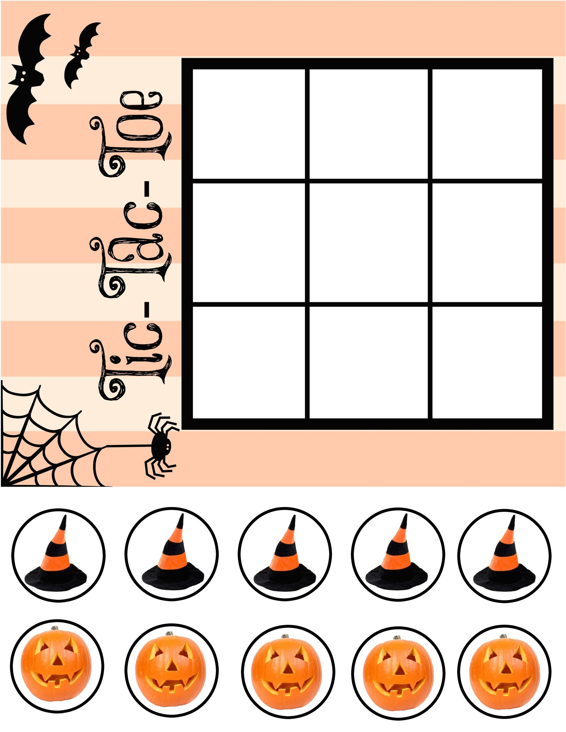 image about Tic Tac Toe Printable identify Halloween Tic Tac Toe PRINTABLE - Our Potluck Relatives