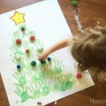 Handprint Christmas Tree and Clean Up
