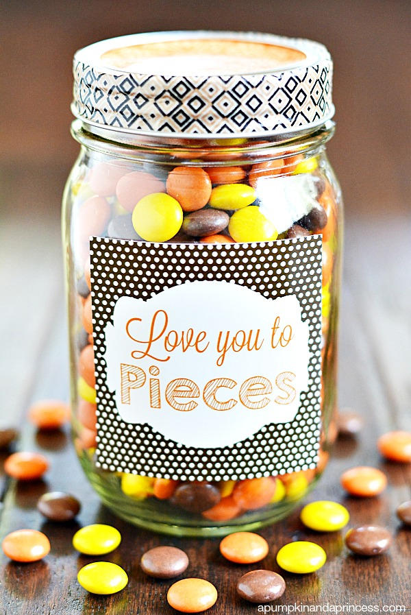 Love You To Pieces Mason Jar