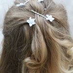 Simple Holiday Hairstyle with DIY Flower Hair Pins