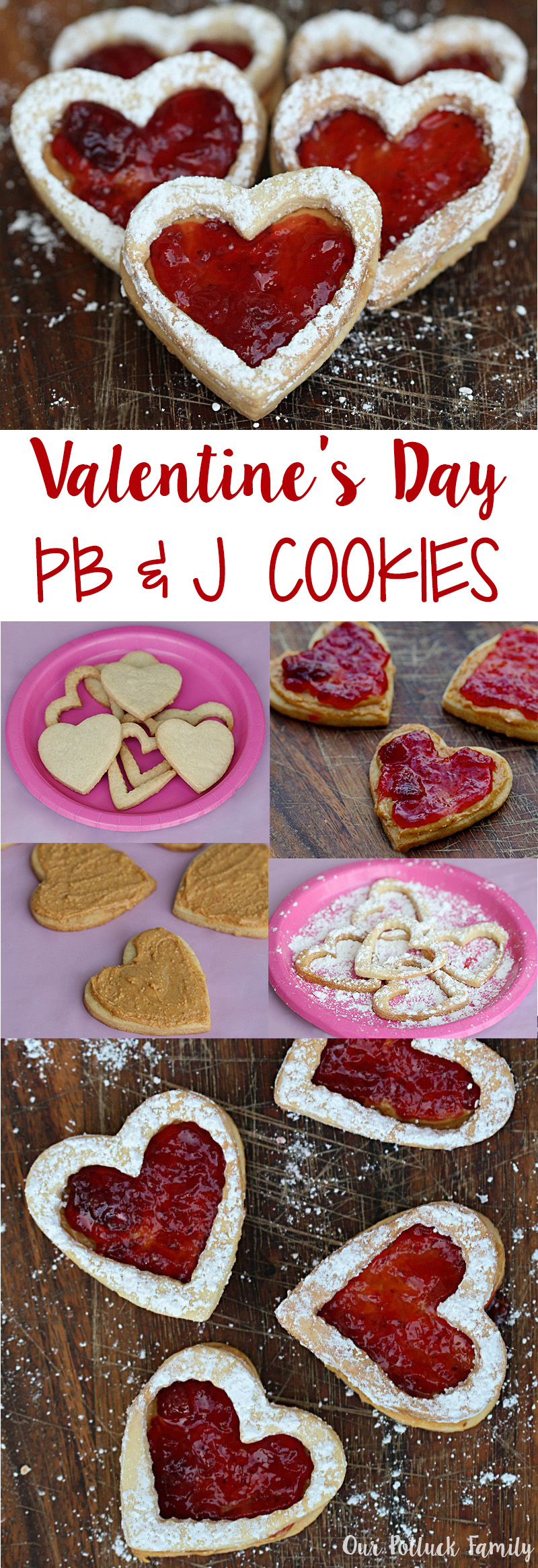 PB & J cookies for Valentine's Day