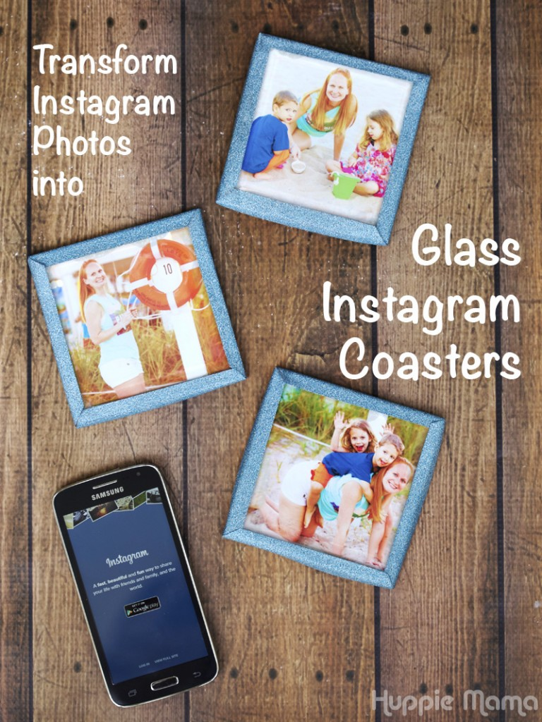 Glass Instagram Coasters