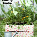 DIY Butterfly Garden in a Decorated Crate
