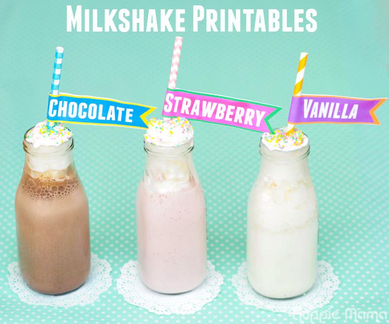 Summer Milkshake Printables