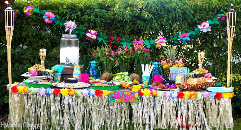 Host a Summer Luau Party - Our Potluck Family