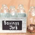 DIY Etched Glass Savings Jars