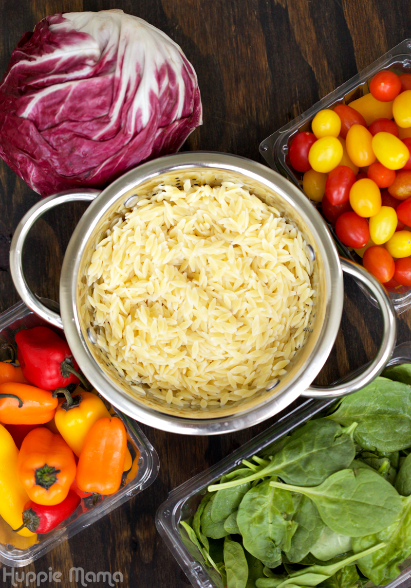 Orzo Salad Ingredients