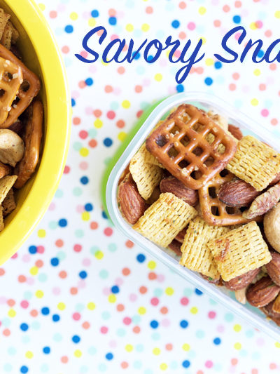 Savory Snack Mix + Lunch Box Ideas