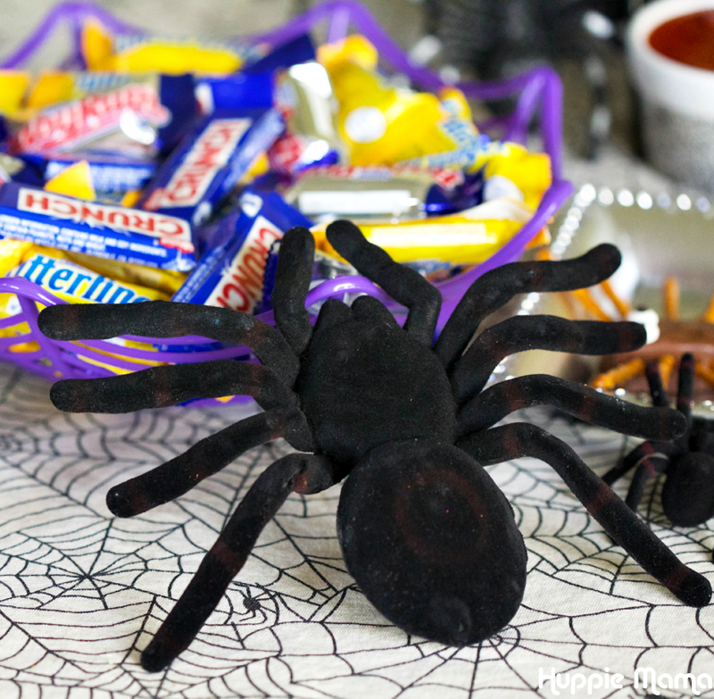 spider in candy