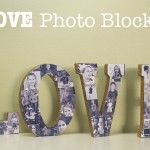 DIY LOVE Photo Blocks
