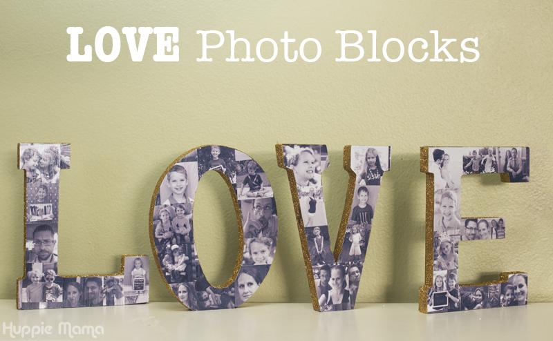 DIY LOVE Photo Blocks