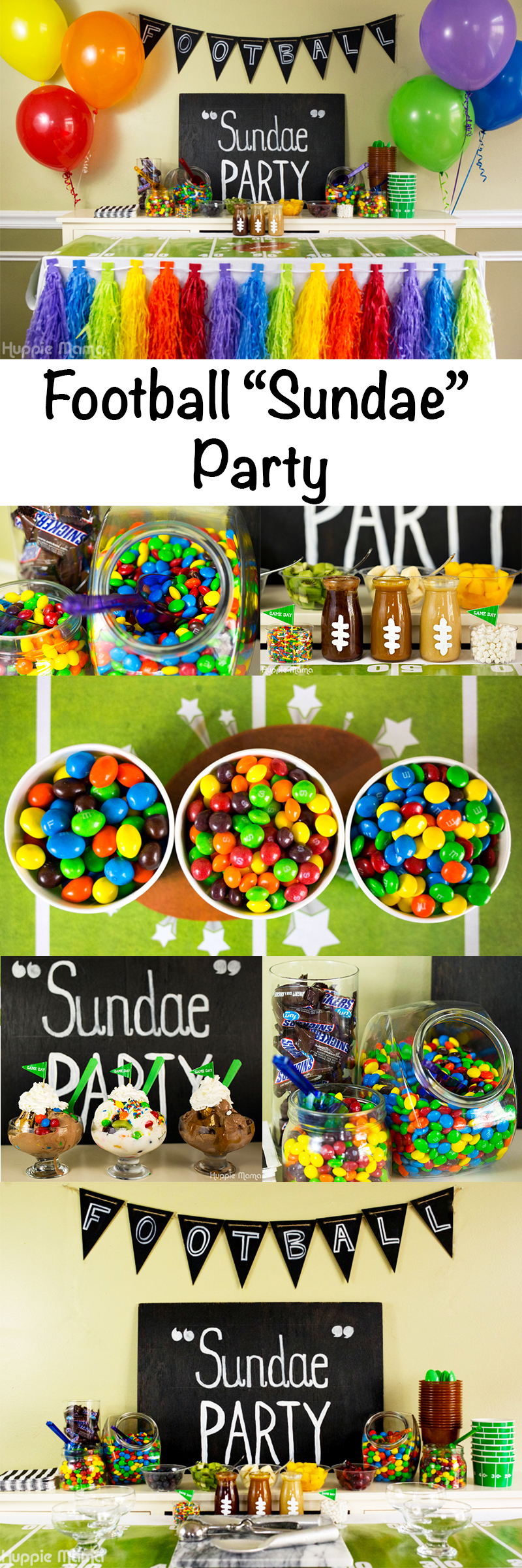 Football sundae party idea