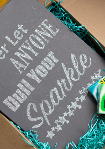 Sparkly Quote Canvas Tutorial