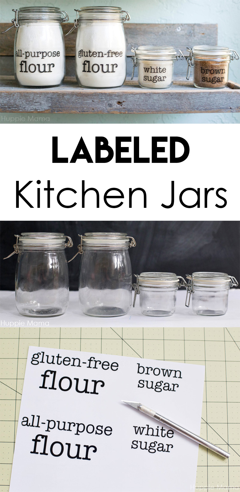 Labeled Kitchen Jars