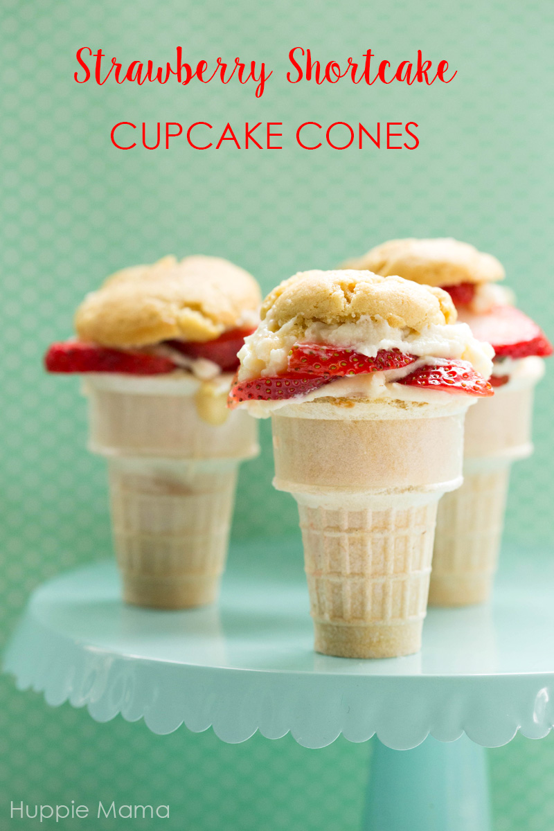 Strawberry Shortcake Cupcake Cones