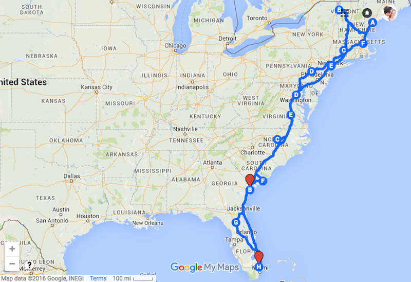 Ultimate Family Road Trip map