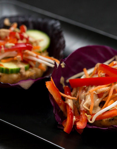 Asian Fish Cabbage Wraps
