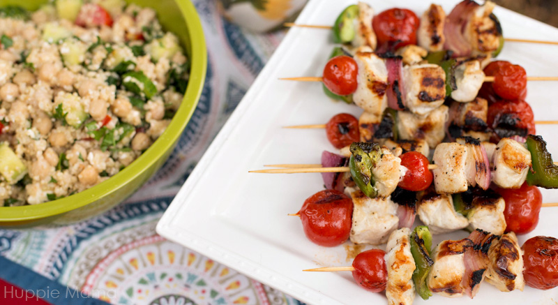 quinoa and kebabs