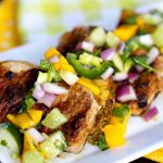 Grilled Pork with Mango Salad