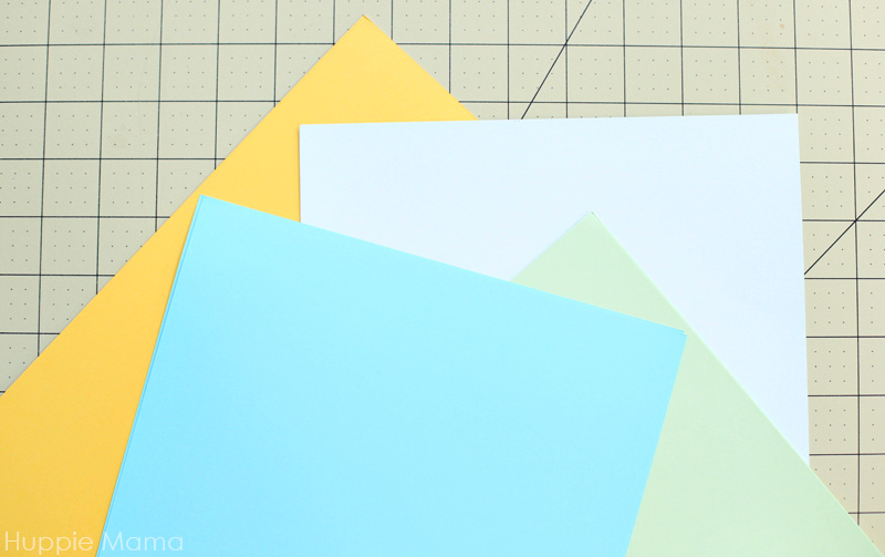 colored card stock