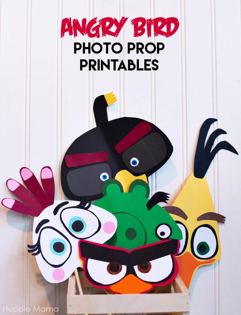 Angry Bird Photo Prop Printables