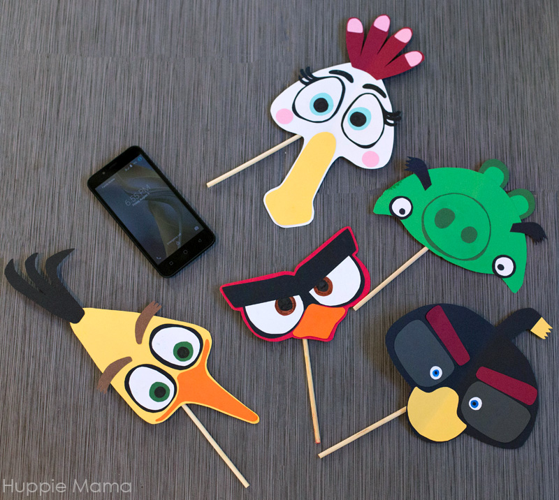 Angry Bird photo props