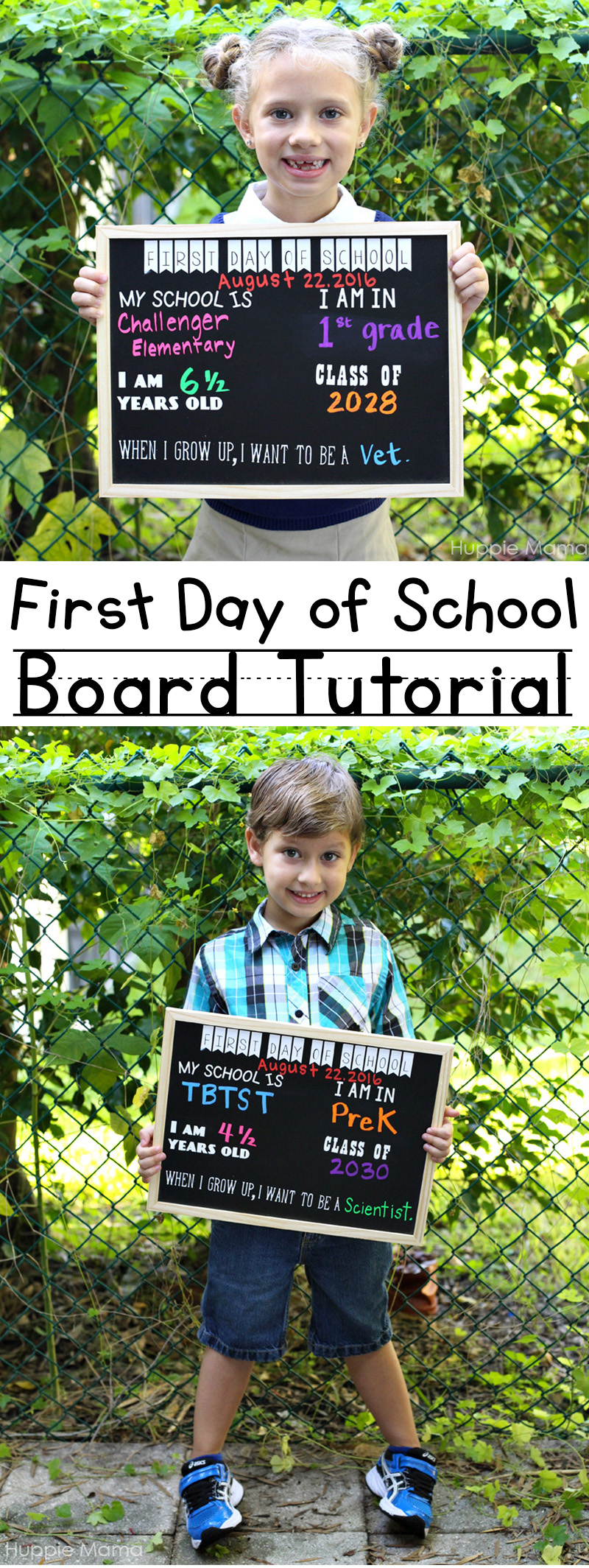 First Day of School Board Tutorial