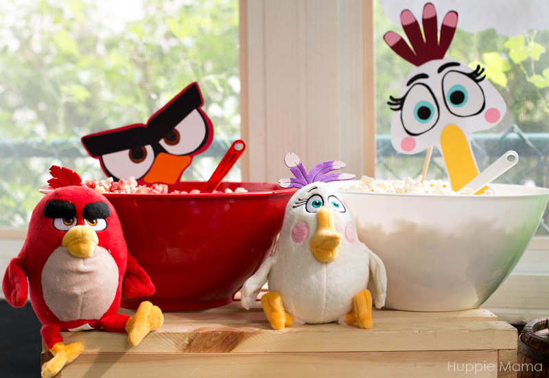 Red and White Angry Birds