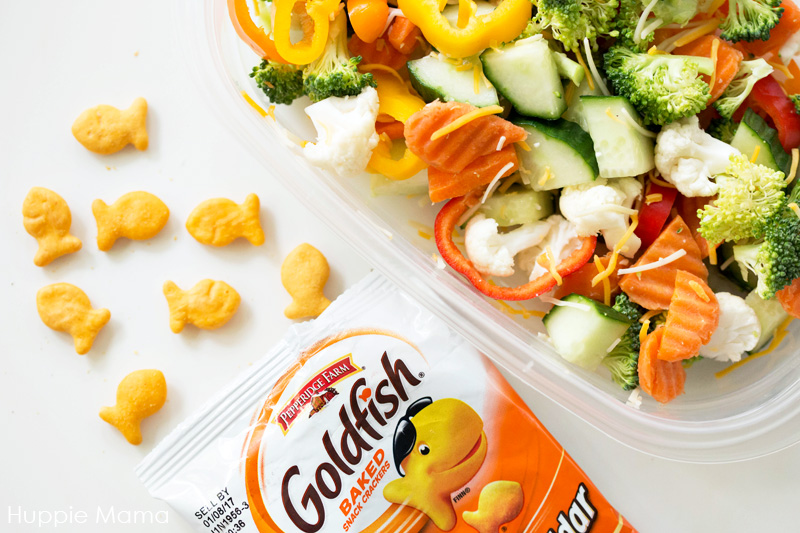 goldfish and salad
