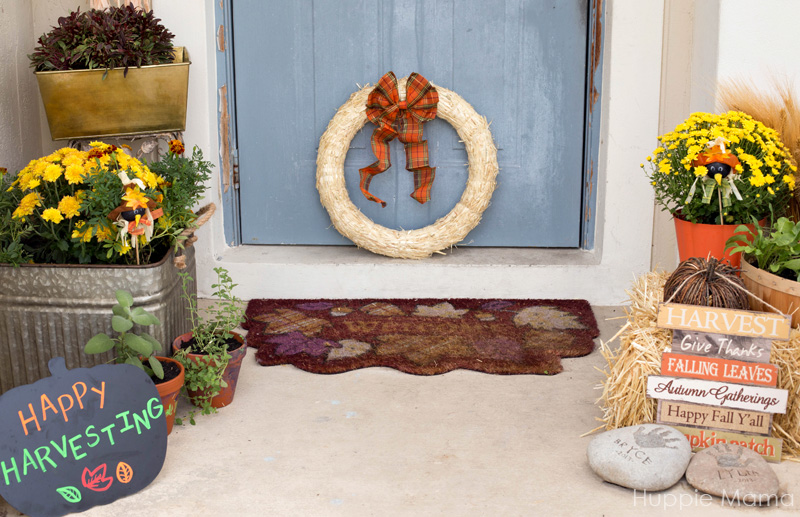 Front door fall decor